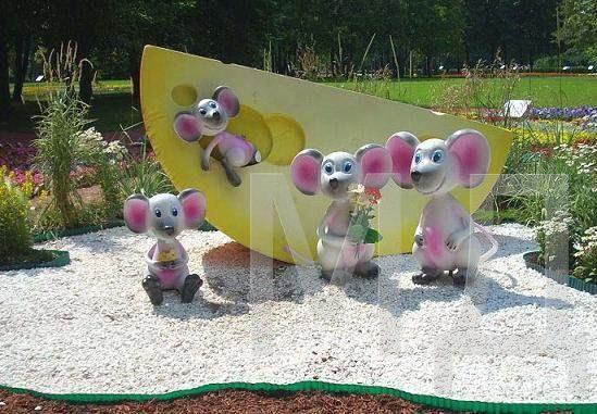 Фигурки для детского участка своими руками 68
