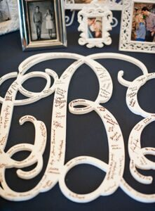 monogram-guest-book-southern-weddings